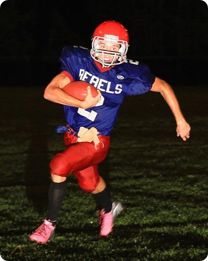 MLWR running back Josh Pettersen scored two third quarter touchdowns in the Rebels victory.
