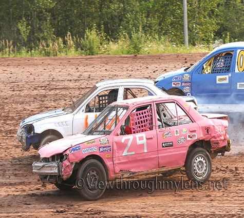 "The Hornets ""buzz"" around Proctor Speedway on Saturday night."