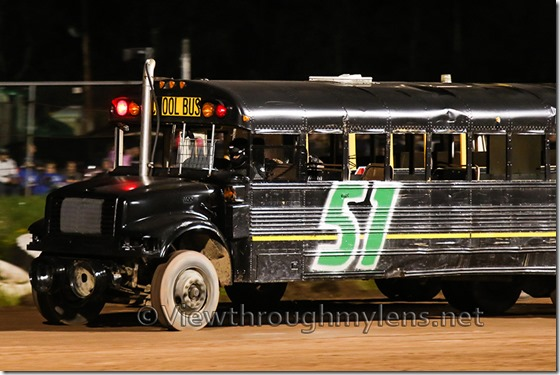 The #51 bus dominated the main feature race Saturday night.