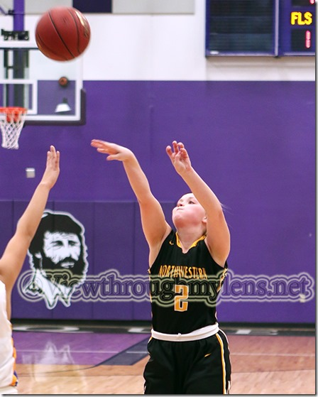 Northwestern's Mackenzie Correll led all scorers with 20 points in the first Wood City Classic game Wednesday.