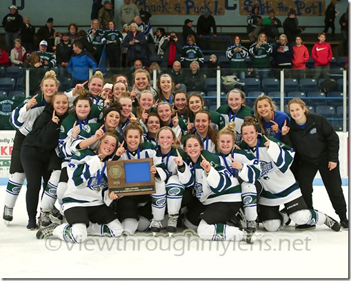 The Proctor/Hermantown Mirage pose with the Section 7A Title Wednesday night in Virginia.